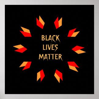 Poster negro de la materia de las vidas póster