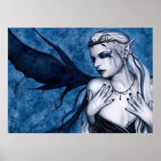 Poster negro de la tiara