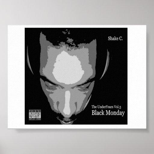Poster negro de lunes
