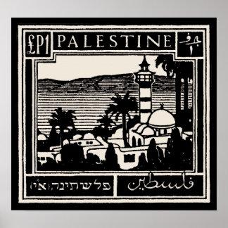 Poster negro de Palestina
