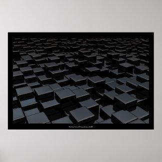 Poster negro del arte del mundo del cubo