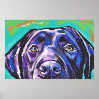 Poster negro del arte del perro del estallido del
