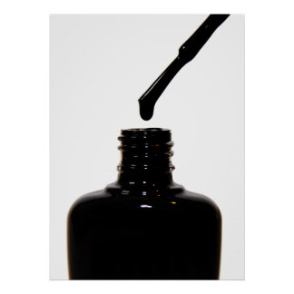 Poster negro del esmalte de uñas