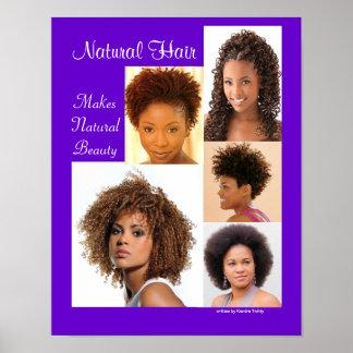 Poster negro del peinado