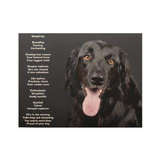 Poster negro hermoso del laboratorio con el poema póster de madera