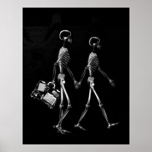 Poster - negro que viaja de los pares esqueléticos
