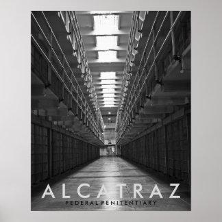 Poster negro y blanco de Alcatraz Póster