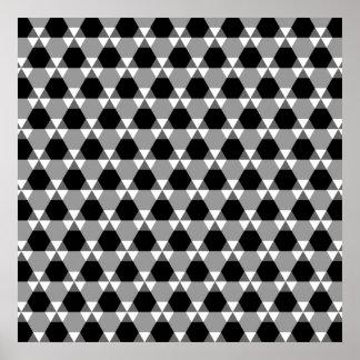 Poster negro y gris del Triángulo-Maleficio