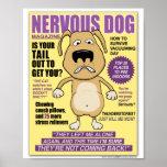 Poster nervioso de la revista del perro