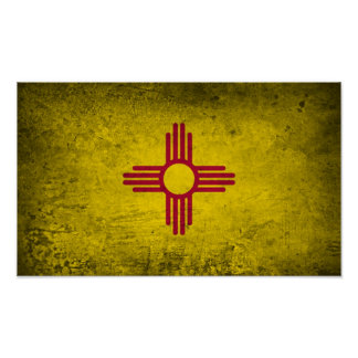 Poster New Mexico Flag