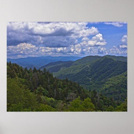 Poster Newfound de Gap de las montañas ahumadas