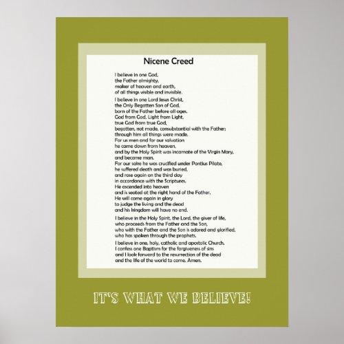 Poster Nicene Creed Christian Print