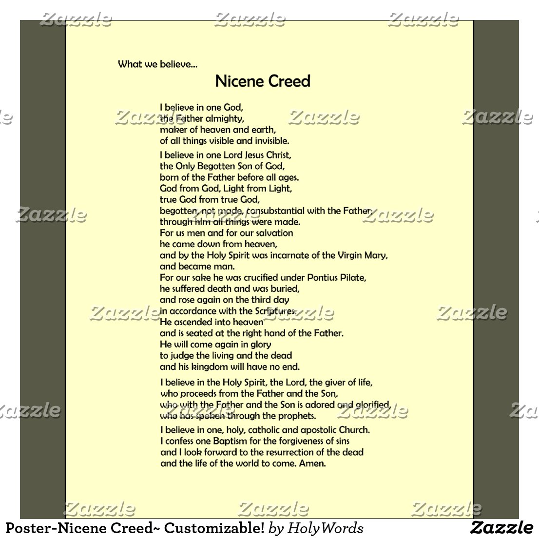 nicene creed Nomenclature there are several designations for the two forms of the nicene creed, some with overlapping meanings: nicene creed can refer to the original version.