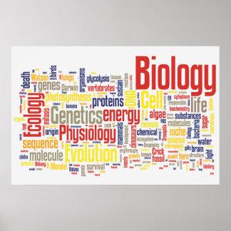 Poster No.7 de Wordle de la biología