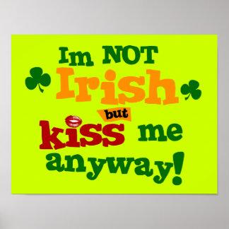 Poster no irlandés de la pared del arte gráfico $2