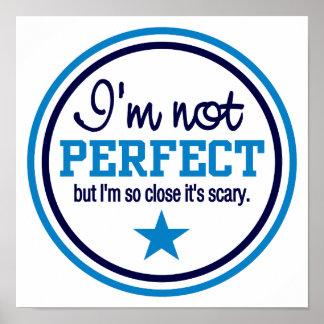 Poster NO PERFECTO - azul