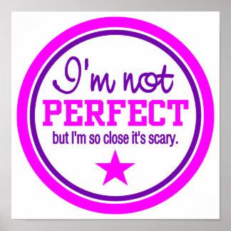 Poster NO PERFECTO - rosa