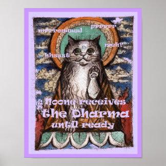 Poster noble de las verdades del gato cuatro de Dh