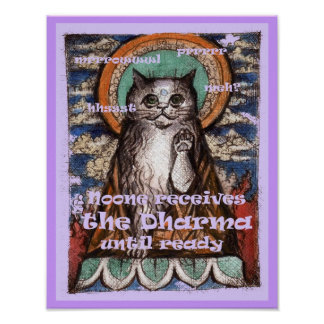 Poster noble de las verdades del gato cuatro de Dh Póster