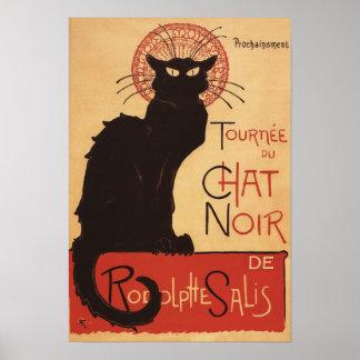 Poster Noir del promo del gato negro de la compañí