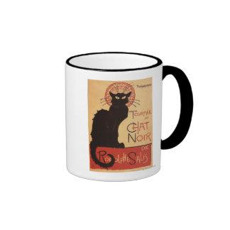 Poster Noir del promo del gato negro de la compañí Taza A Dos Colores