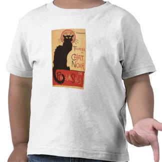 Poster Noir del promo del gato negro de la Camiseta