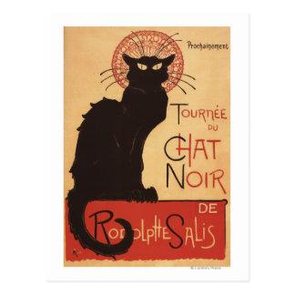 Poster Noir del promo del gato negro de la Postal