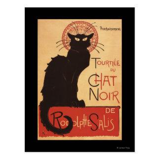 Poster Noir del promo del gato negro de la Tarjetas Postales
