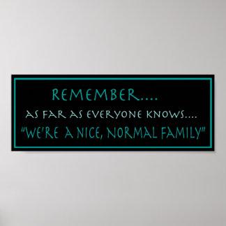 Poster normal de la familia