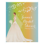 Poster nupcial de la ducha de la novia elegante