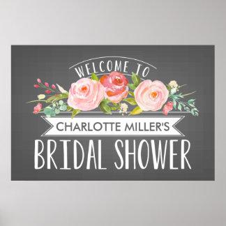 Poster nupcial de la recepción de la ducha de la póster