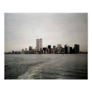 POSTER NYC~ en torres gemelas del ~ de Memoriam en
