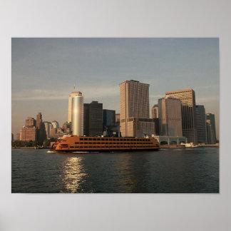 POSTER NYC~ en torres gemelas y SIFerry del ~ de M