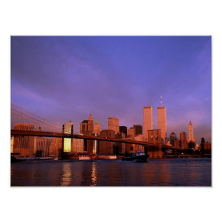 POSTER NYC~ World Trade Center ~ Twin Towers