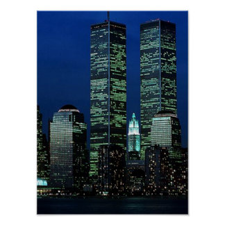 POSTER NYC World Trade Center Twin Towers