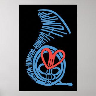 Poster o impresión del amor Blue2 de Humppa