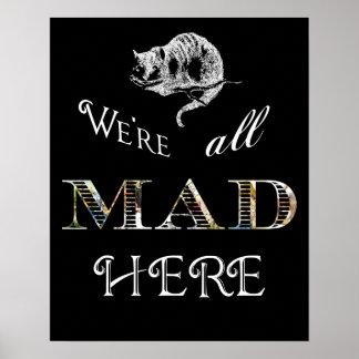Poster o impresión enojado de Alicia del gato de C