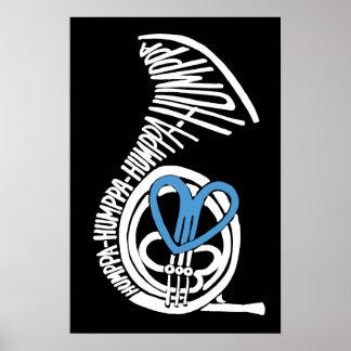 Poster o impresión oscuro azul del amor de Humppa