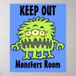 Poster observado 3 de la puerta del monstruo del M