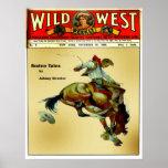"""""""Poster occidental del rodeo del vaquero del jinet Póster"""