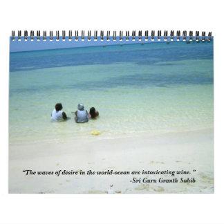 Poster oceánico calendarios
