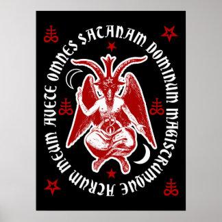 """""""Poster oculto latino de Satan"""" Baphomet del Póster"""