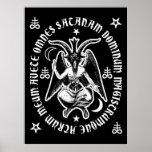"""""""Poster oculto latino de Satan"""" Baphomet del salud"""
