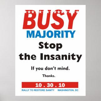 Poster ocupado de la mayoría