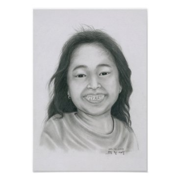 Art Themed Poster of a Cambodian Girl 3 by Vannak Anan Prum