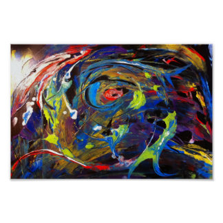 Poster of an abstract acrylic painting