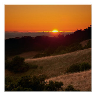 Poster of beautiful California sunset