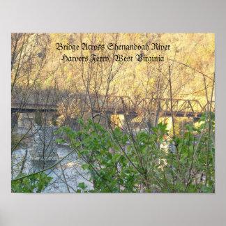 Poster of Bridge Across Shenandoah River, Harper's