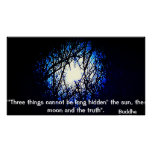 Poster of Buddha quote about Truth