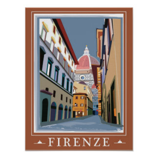 Poster of Florence Italy, View of the Duomo